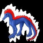 Blue Felt Dragon in Digital by ThatKiku