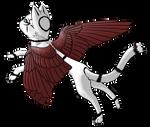 Adoptable - Marked Angel Kitty - OPEN by ThatKiku