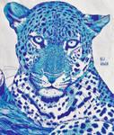 Leopard in Blue by X-Enlee-X