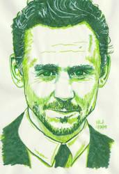 Tom Hiddleston in Green by X-Enlee-X