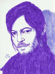Norman Reedus in Purple by X-Enlee-X