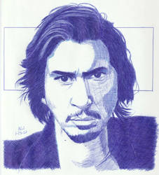 Adam Driver in Blue by Enlee-Jones