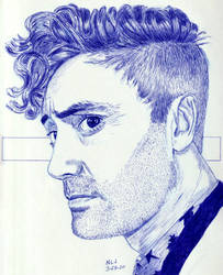 Taika Waititi in Blue by Enlee-Jones