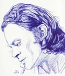 Brad Dourif in Blue by Enlee-Jones