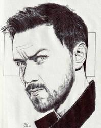 James McAvoy in Black by Enlee-Jones