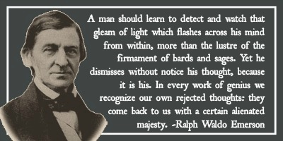 Ralph Waldo Emerson Quote-Gleam of Light Signature by EnigmaticBibliophile