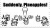 Suddenly, Pineapples - asdf movie Stamp by EnigmaticBibliophile