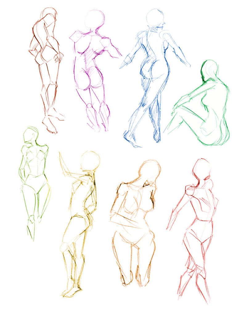 Fashion illustration sketches poses