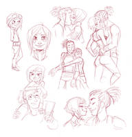 swtor doodles by SnuffyMcSnuff