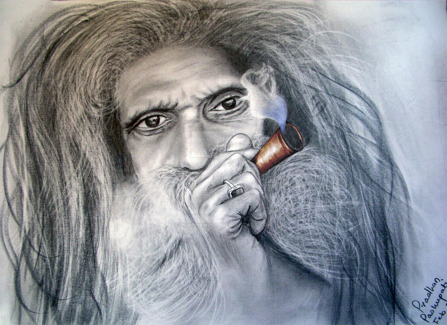 Sadhu smoking Marijuana by pradhan007p on DeviantArt