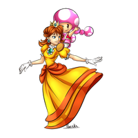 [Commission] Daisy and Toadette by Moenkin