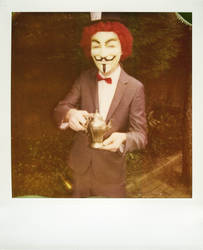 Mad Hatter on Polaroid by Lotz-Of-Love