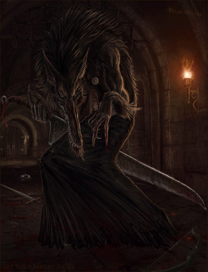 Demon Wolf by Vvlad-vVolfen