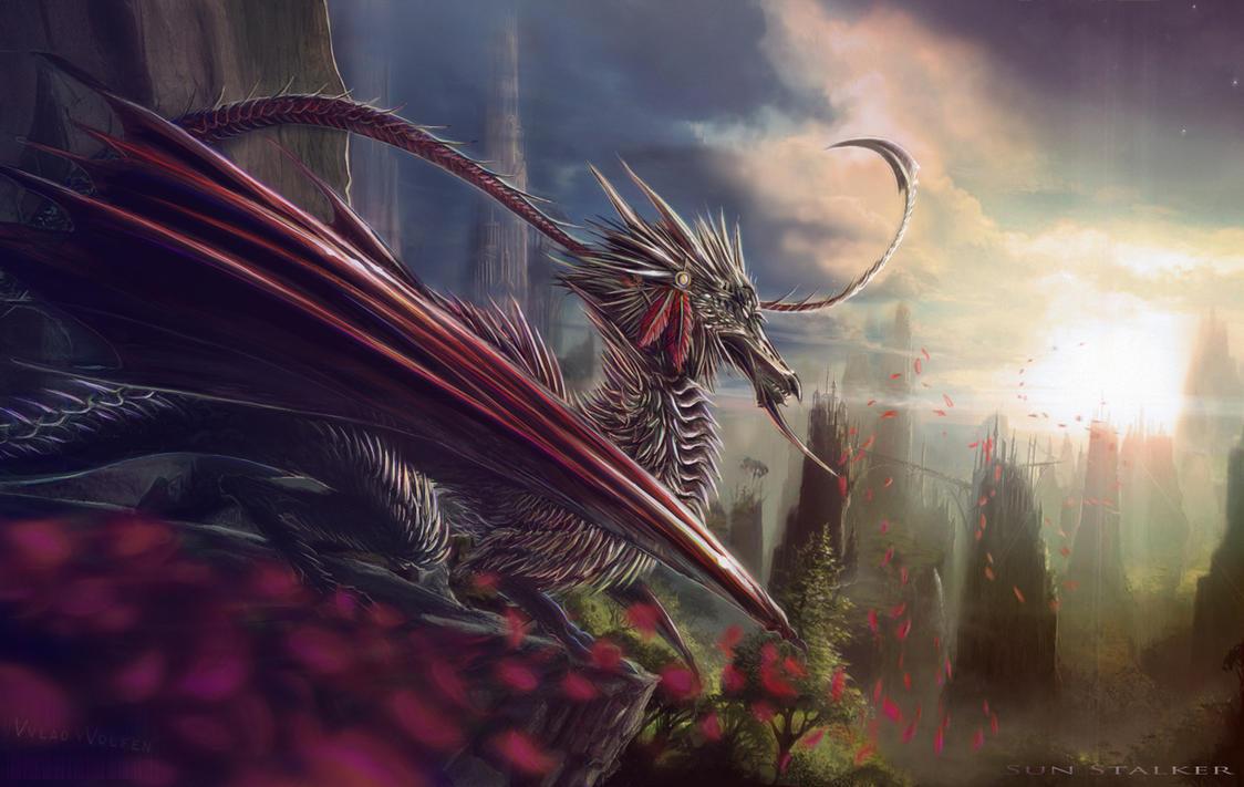 Silver Dragon by Vvlad-vVolfen