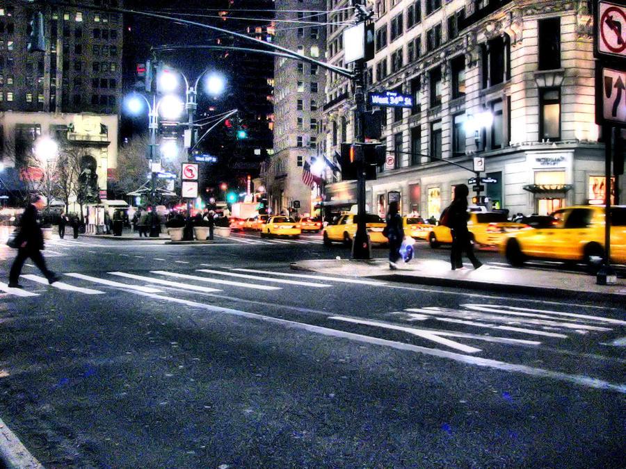 New York Night Street V3 by Mend30012