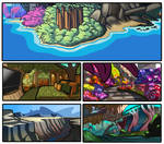 Sonic Sunshine_Environment Concepts by SSJSophia