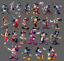 90 Years of Mickey Mouse by SSJSophia