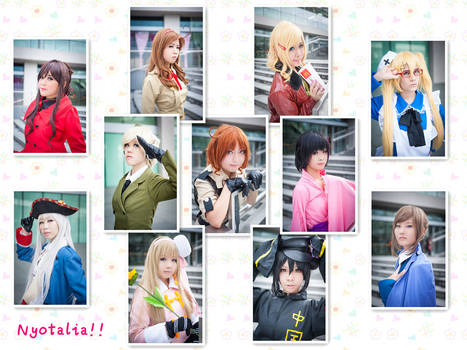 Nyotalia cosplay -Team Collage-