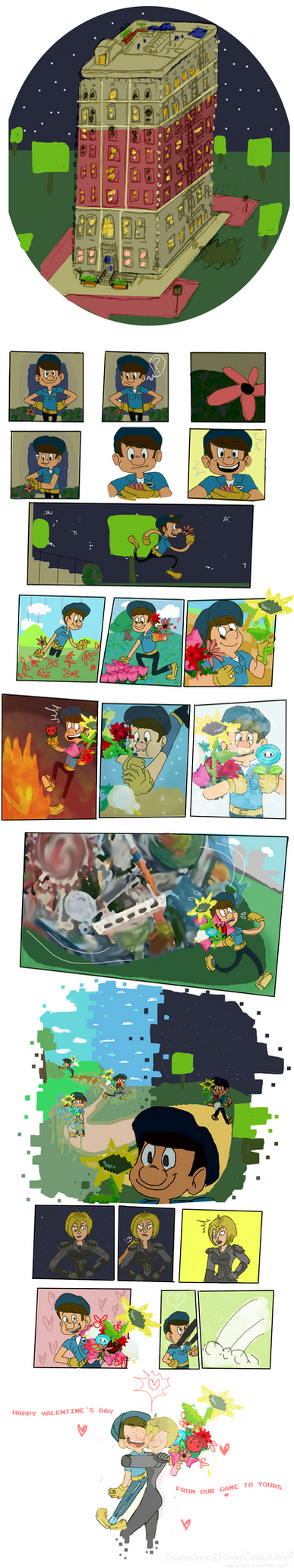 Game Jumped Bouquets by SparkleNaut