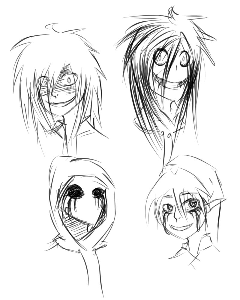 It's just an image of Playful Creepypasta Coloring Pages