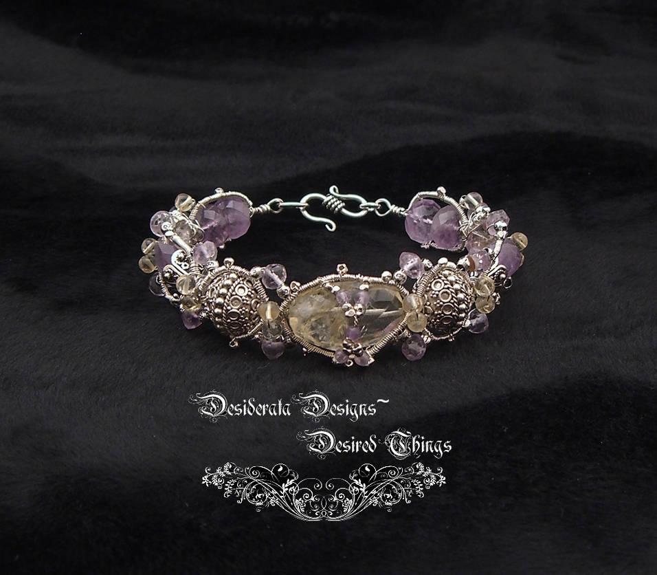 Amethyst and Citrine Bracelet by mdvannes