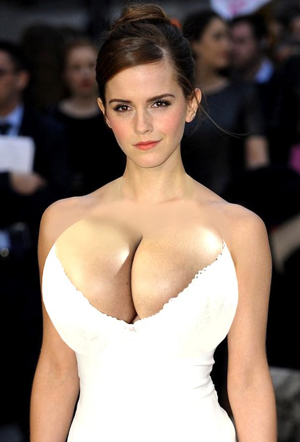 Emma Watson with Bigger Breasts 6 by DarkonParker