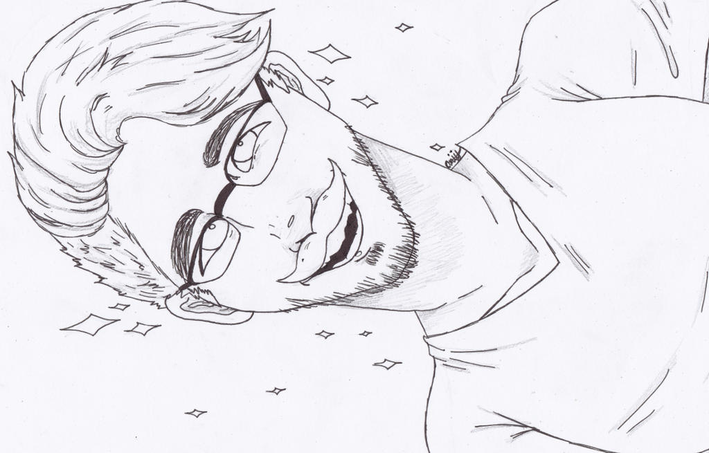 Markiplier Sketch by Thanatos-Dolofonia