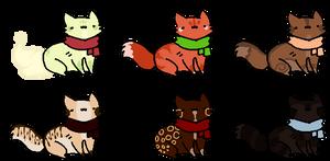 Dessert Themed Kitties - 3/6 OPEN