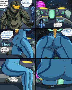 Samus Unaware of Master Chief! (Commission) Page 1