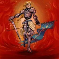 Illustration - Jeanne d'Arc by DrawOrDrop