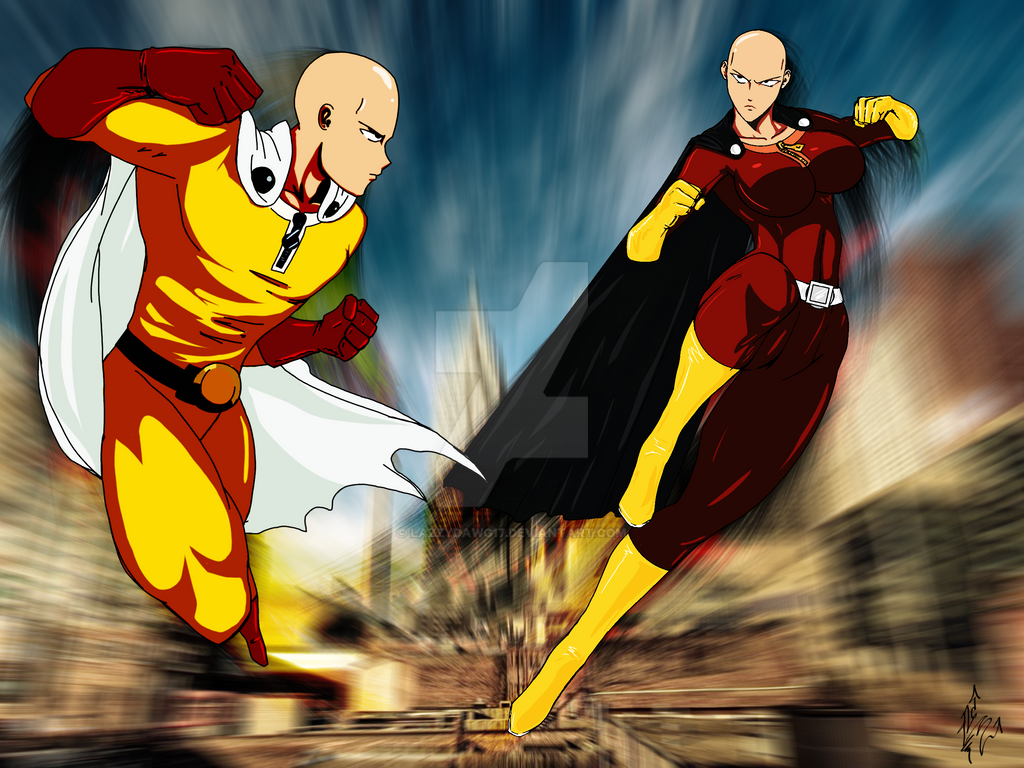 one punch man vs one kick woman by lazzydawg17 on deviantart