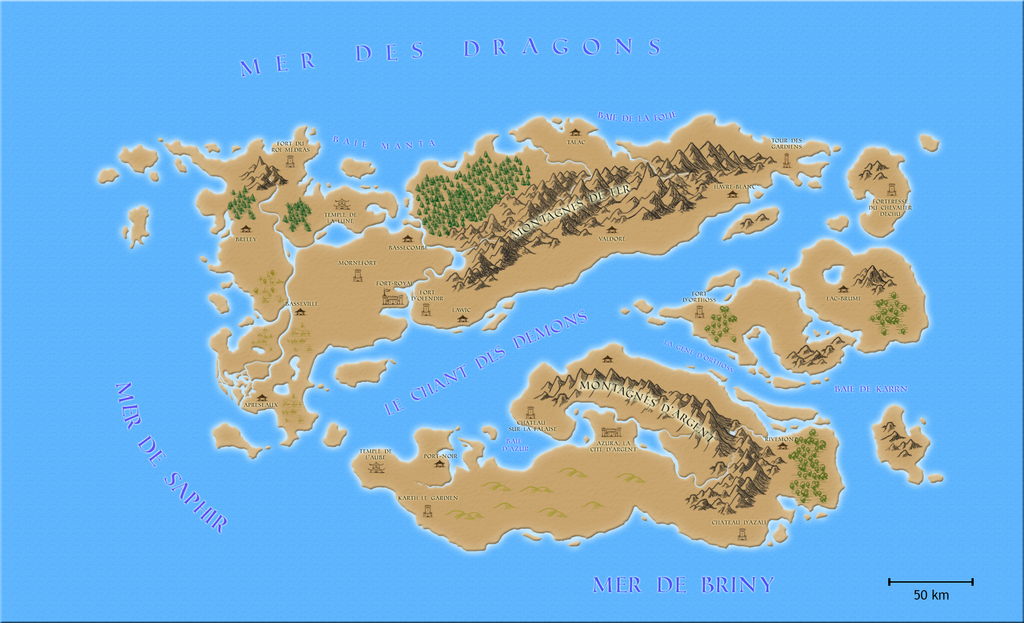 Fantasy Map by SuperTheo32