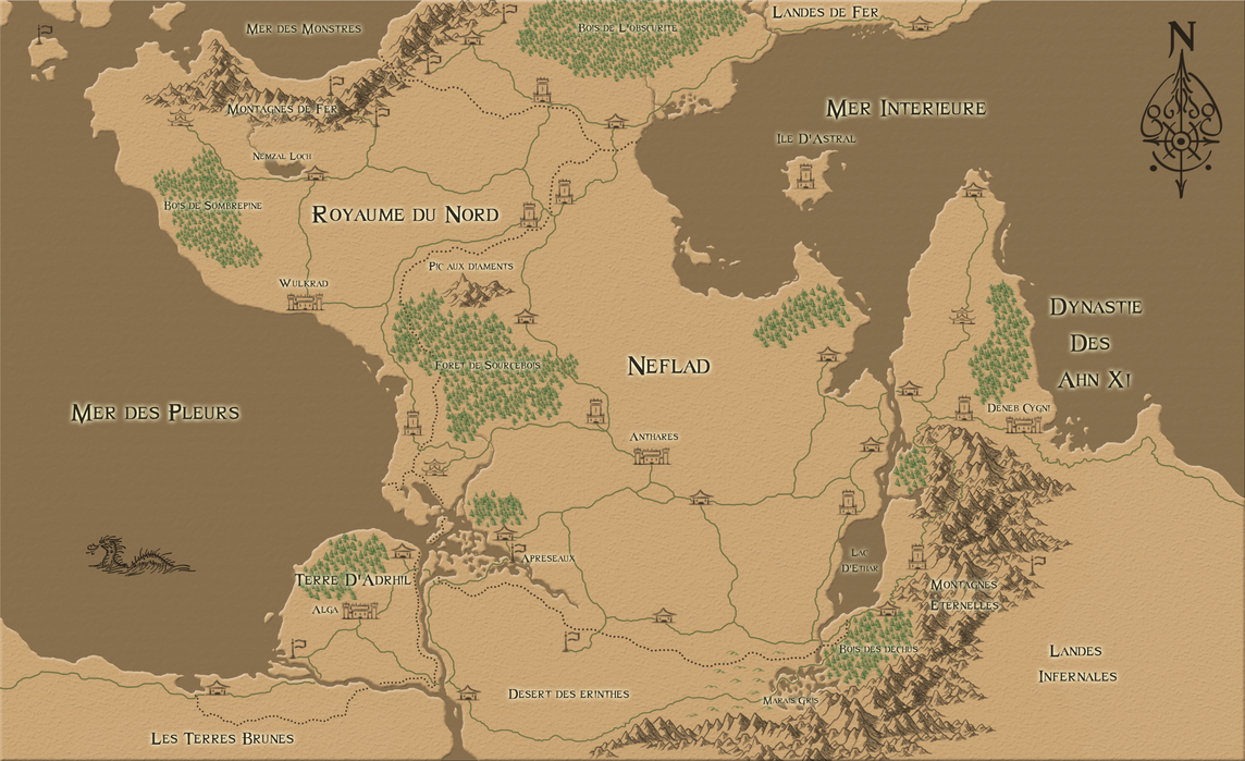 Fantasy World Map #1 by SuperTheo32
