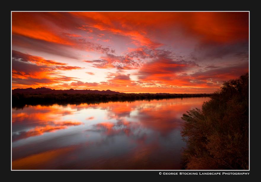 Colorado River Sunrise by gwrhino