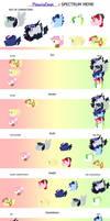 SPECTRUM MEME: Moonieverse Mane Characters