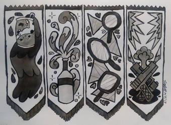 Inktober and Eddtober (Day 5) - Long Symbols