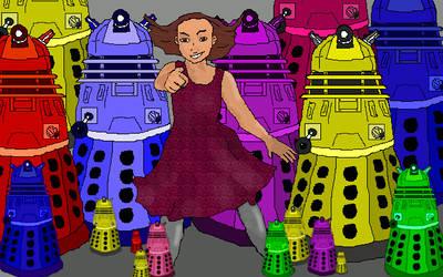 Vi and Daleks by Philomele