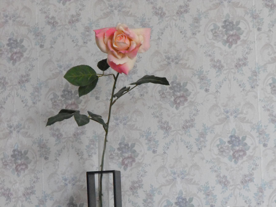 flower and vintage wallpaper by laurengee