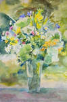watercolor bouquet by veronika-schnek
