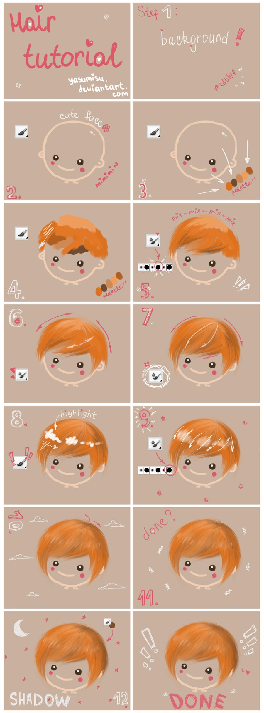hair tutorial by yasumisu