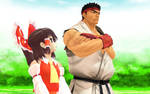 [MMD] Ryu And Reimu