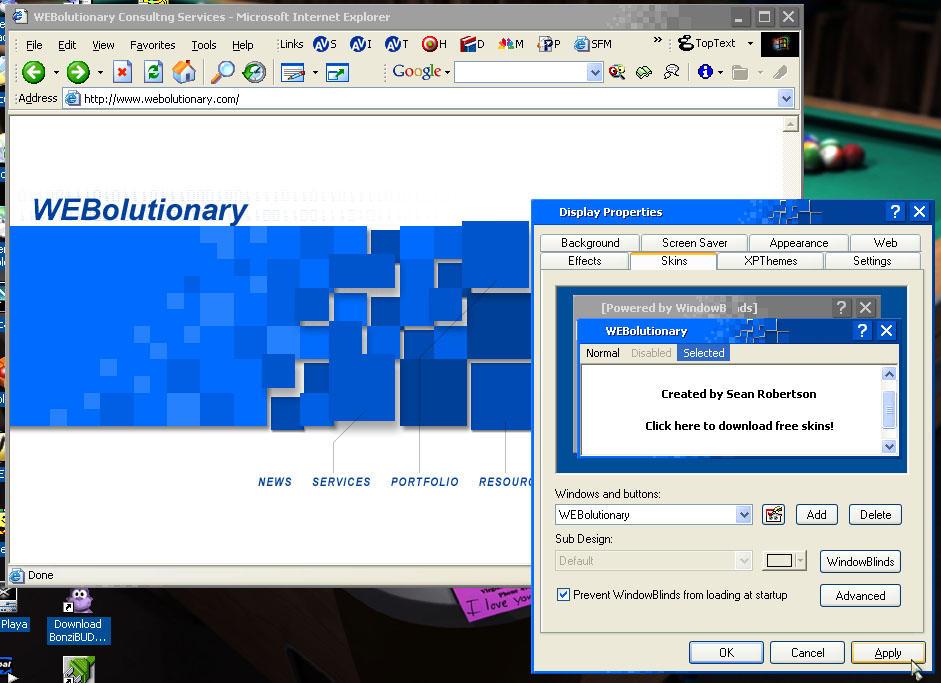 WEBolutionary v1 by seanr