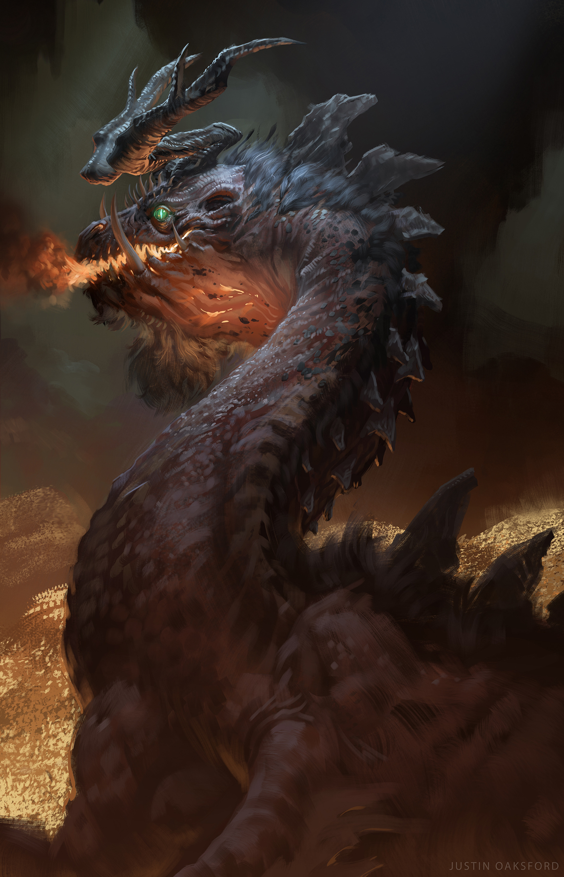 Smaug Under the Lonely Mountain
