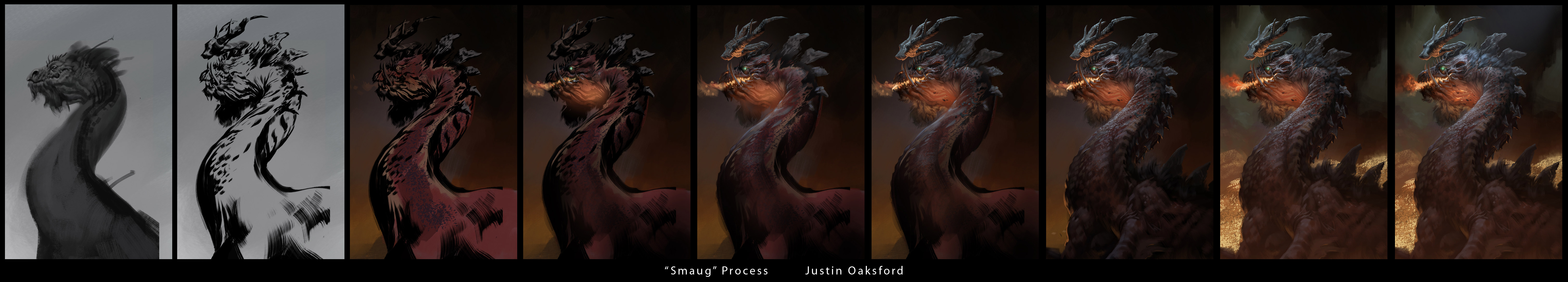 (TUTORIAL) Smaug Under the Lonely Mountain by Justinoaksford
