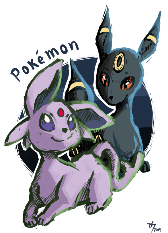 espeon/umbreon. by devi-san