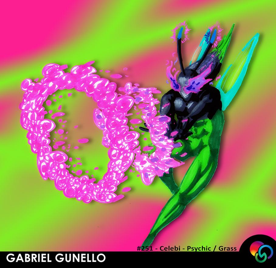 Pokemon Celebi by gabrielgunello