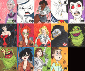 Ghostbusters skethcards 2 by Bulun