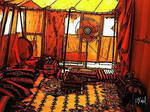 An Arab Tent with a Fan