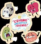 Crying Breakfast Friends: Full Sticker Set