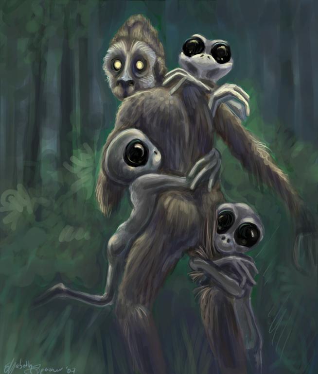 Aliens love Bigfeets by werecarrot